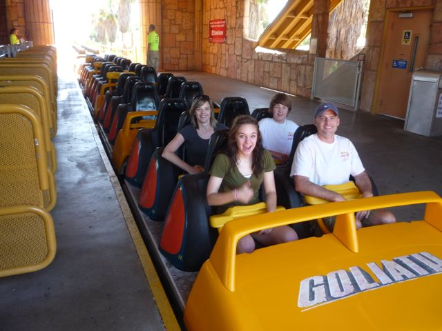 Years after we started the Rollercoaster Vacations our kids still looked forward to them.