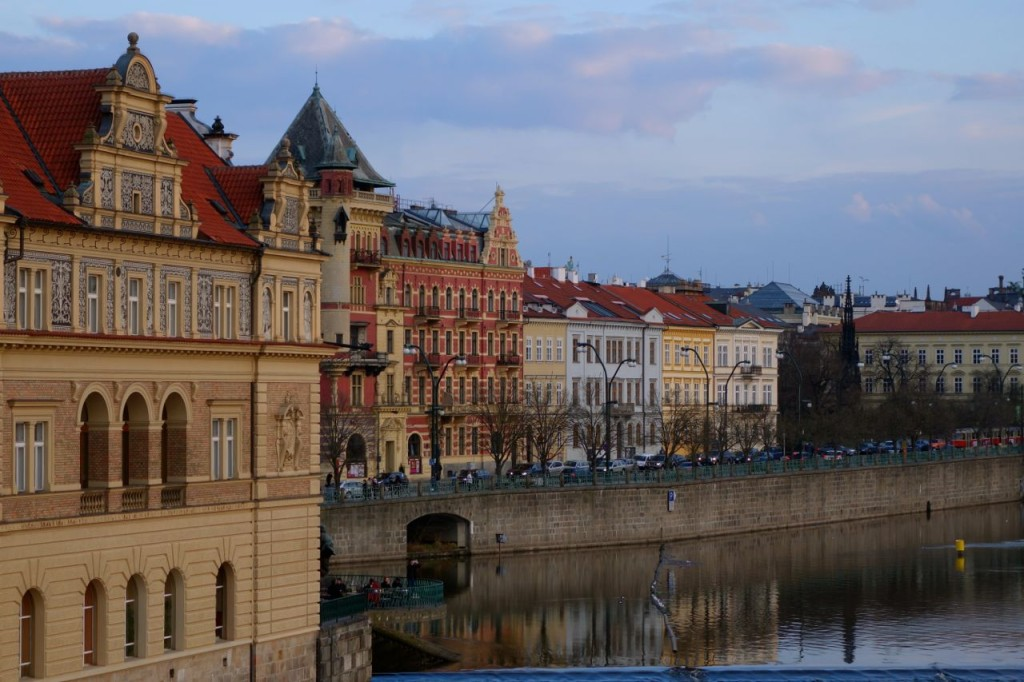 Along the river in Prague