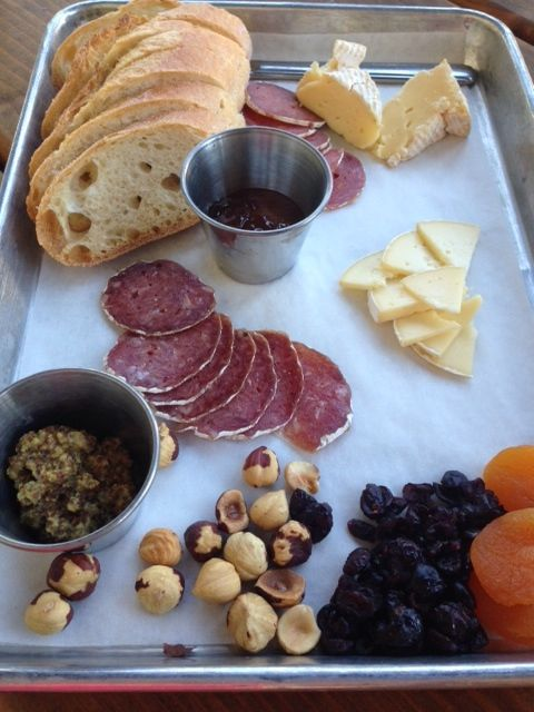 The Meat and Cheese Plate from Red Hills Market in Dundee Oregon