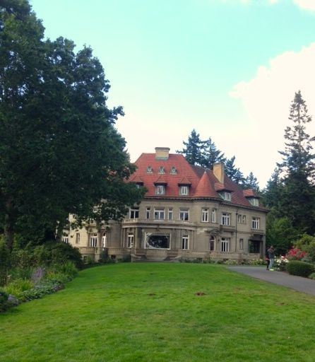 Pittock Mansion. Drive up to it or hike? We chose hike
