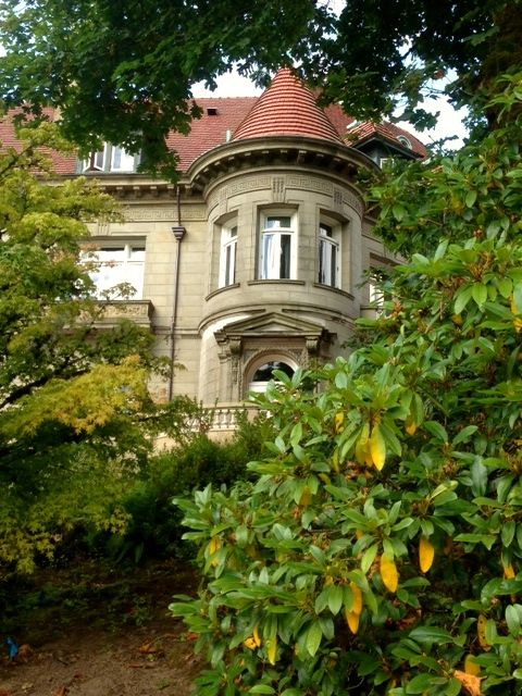 Walking around and enjoying the grounds at Pittock Mansion