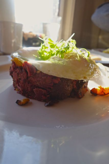 The presentation on this Corned Beef Hash at Chow in Bend was impressive.