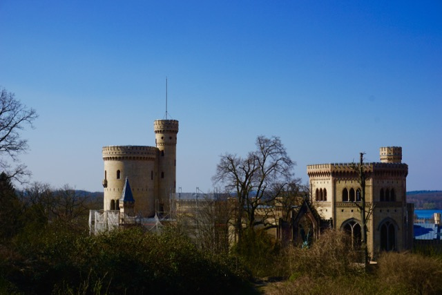 Babelsberg Castle Germany. It's was a bummer that it was completely under construction