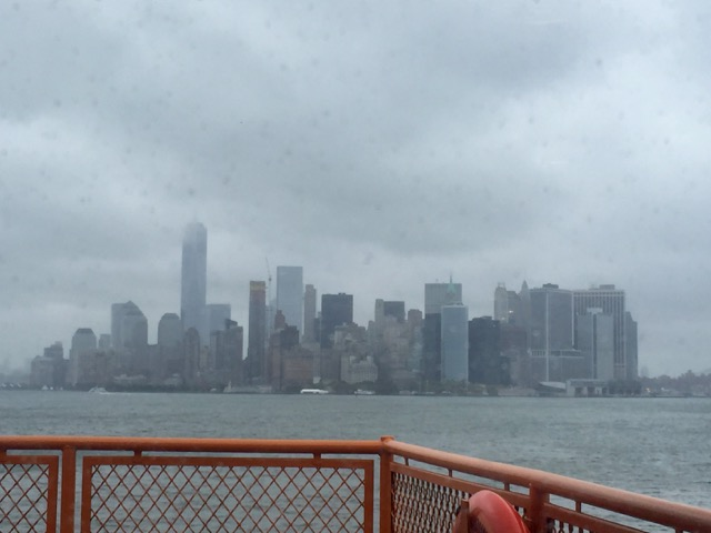 The weather was not the best, but we still enjoyed the view from inside the ferry