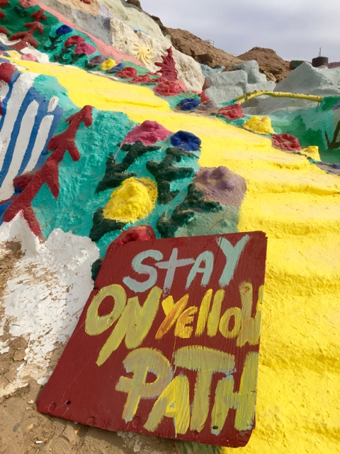 You were free to climb Salvation Mountain, just stay on the path