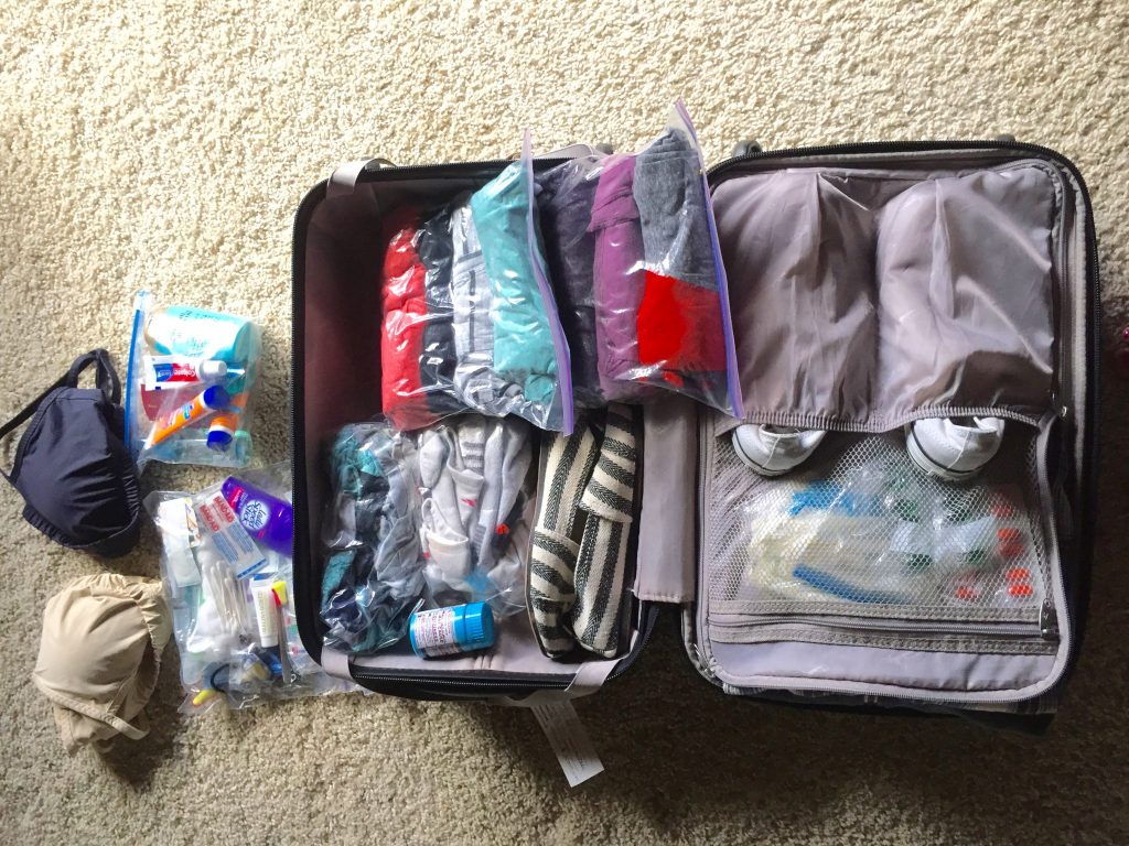 6 Packing tips you won't want to miss. All packed and still room for more if I wanted too.