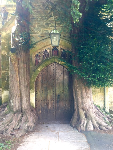 We were told not to miss this back entry to the church at Stow on the Wold