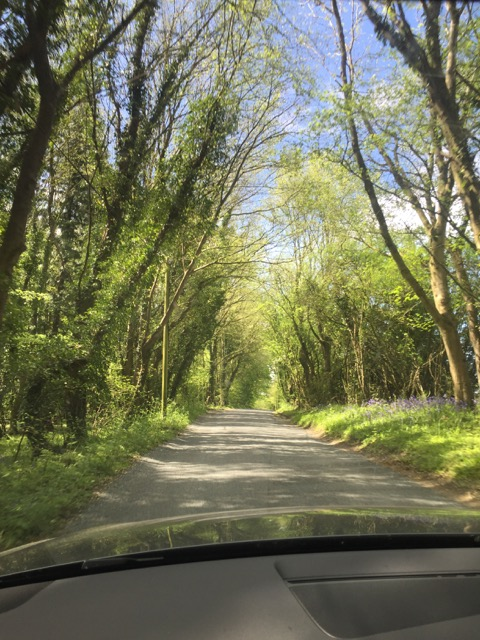Tiny Winding roads through the Cotswolds.