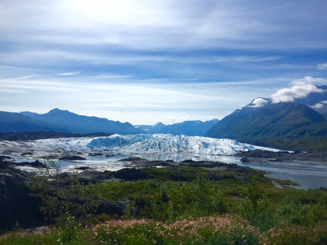 Perfect day to hike on this glacier