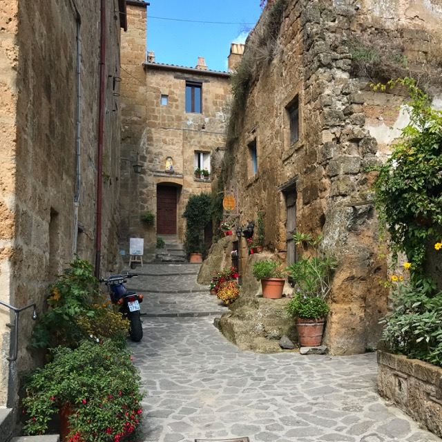 The charming streets of Civitia Bagnoregio